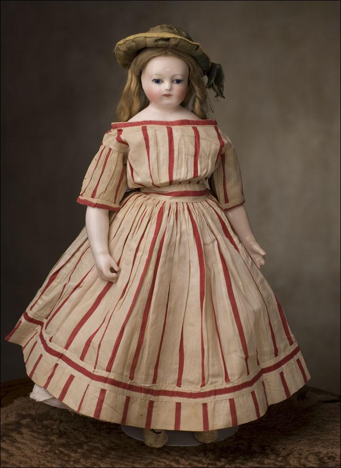 Редкая модная кукла 1860-е годы, мадам Rohmer, 36 см