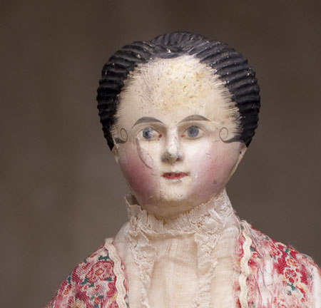 Rare Early Wooden Fashion Doll