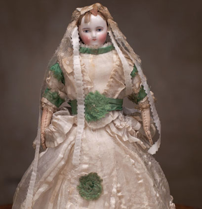Small fashion Biedermeier doll