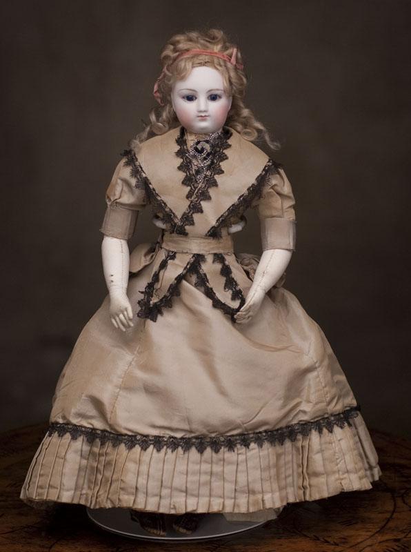 Модная Кукла Barrois -1880-е годы, оригинальный костюм!