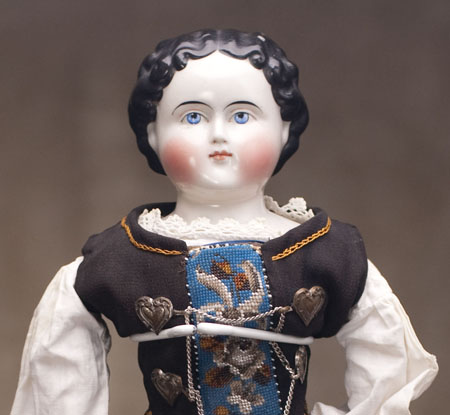 China Head  Biedermeier doll