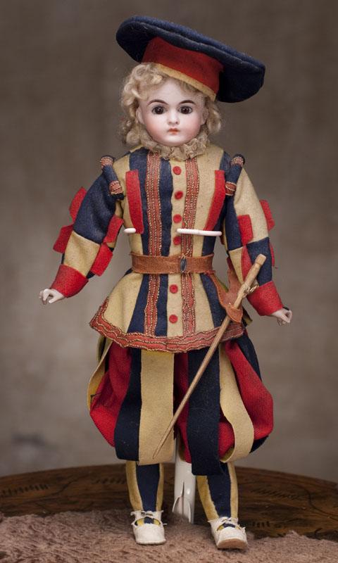 Кукла KLING в оригинальном костюме Швейцарской гвардии - охраны Ватикана. 1885 г.