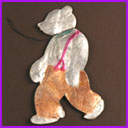 Antique Christmas ornament WALKING BEAR