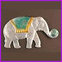 Antique Christmas ornament CIRCUS ELEPHANT