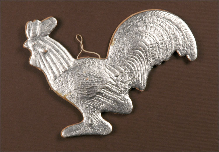 Antique Dresden Christmas ornament ROOSTER