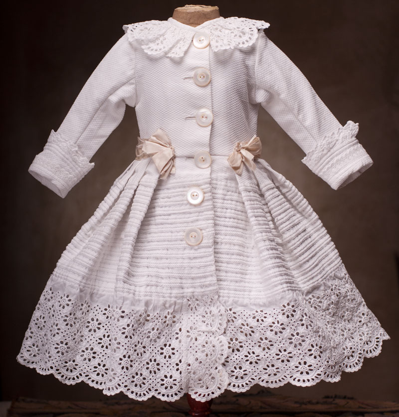 Antique Original Pique Doll Dress