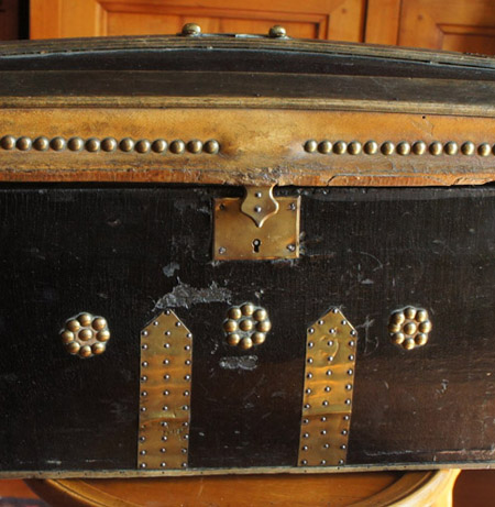 Antique French Doll Trunk