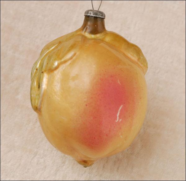 Antique Christmas ornament PEACH