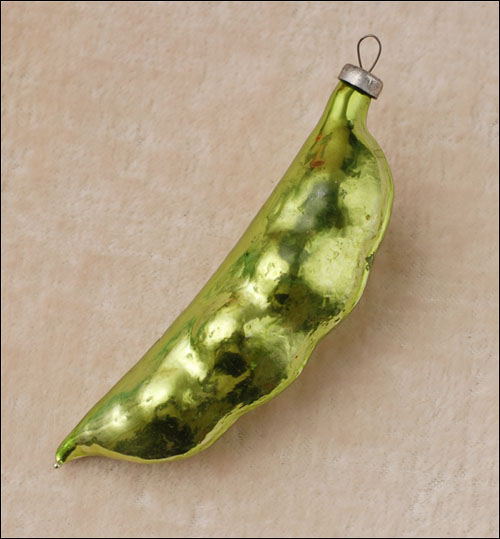 Antique Christmas ornament PEA POD