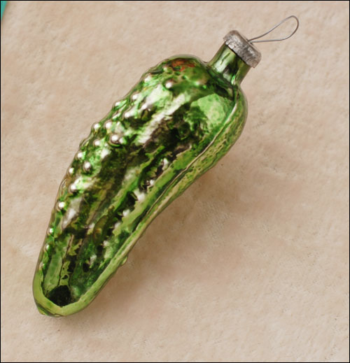Antique Christmas ornament PICKLE