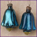 Antique Christmas ornament PAIR OF BELLS
