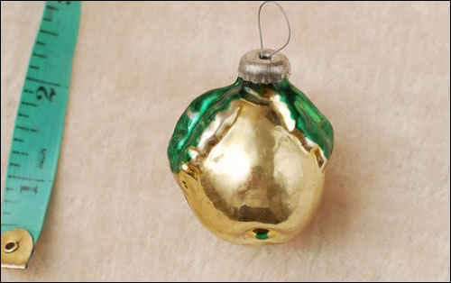 Antique Christmas ornament APPLE
