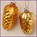 Antique Christmas ornaments GOLDEN CONES