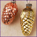 Antique Christmas ornaments TWO CONES