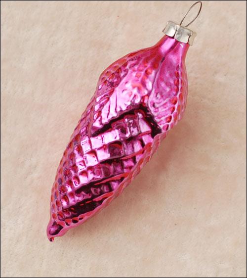 Antique glass Christmas ornament CONE