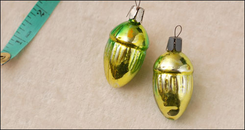 Antique Christmas ornament TWO ACORNS