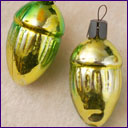 Antique Christmas ornament TWO ACORNS