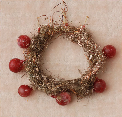 Antique wire and glass German Christmas ornament