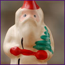Antique glass Christmas ornament SANTA