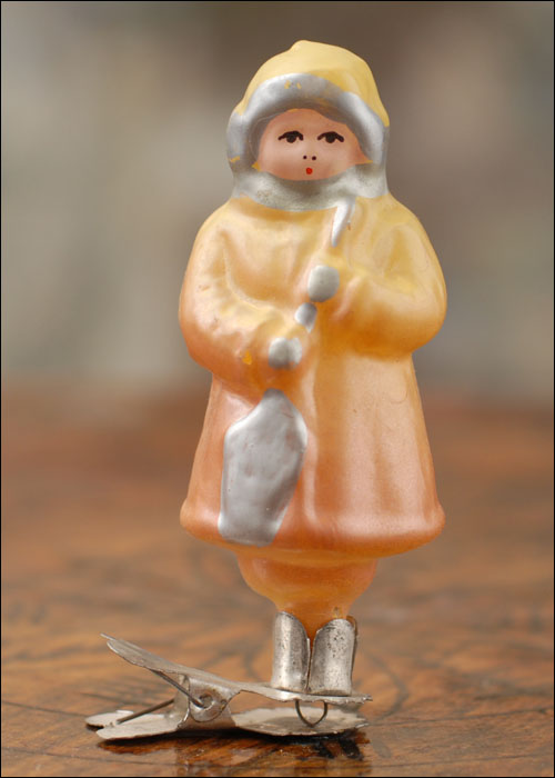 Antique Christmas ornament BOY WITH SPADE