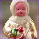 Antique Christmas ornament BOY WITH TOY