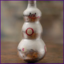 Vintage silver glass Christmas ornament SNOWMAN