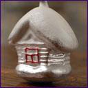 Antique Christmas ornament WINTER HOUSE