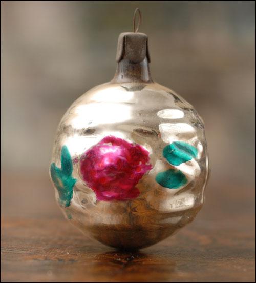 Antique Christmas ornament FLOWERS