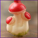 Antique Christmas ornament MUSHROOMS
