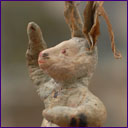 Antique Christmas ornament RABBIT or HARE