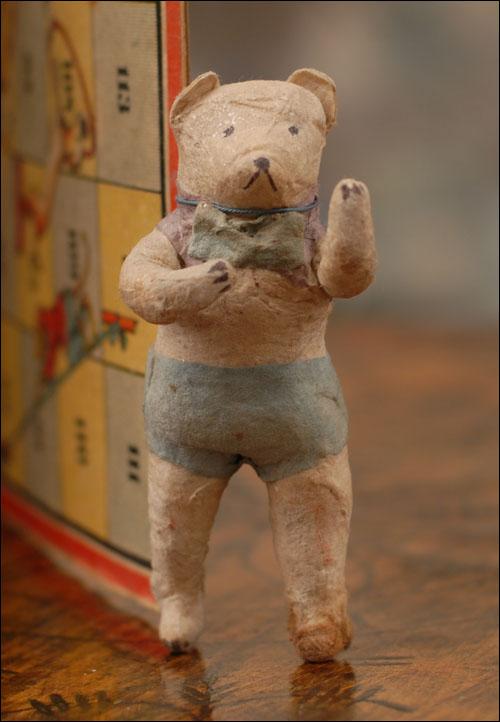 Antique cotton Christmas ornament BEAR