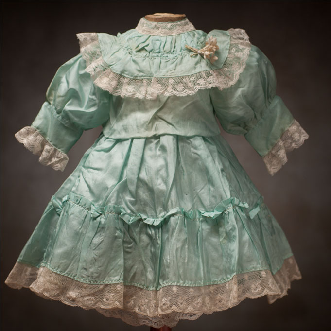 Antique Aqua Silk dress