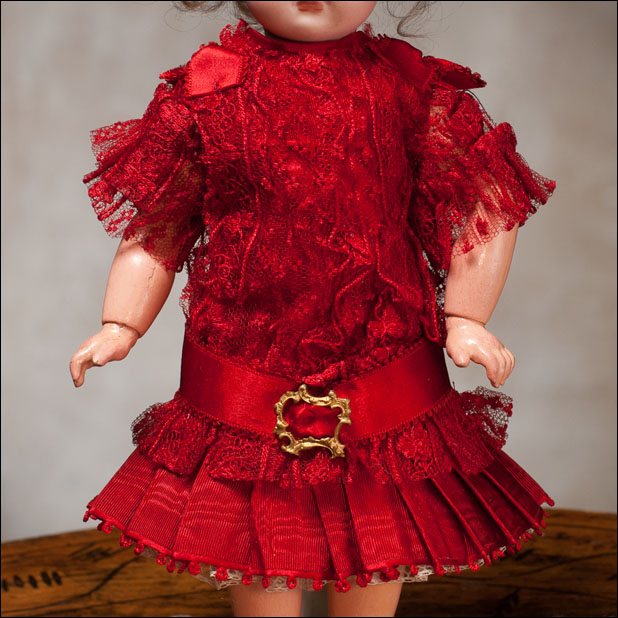 Silk Dress for 9-10 in Doll