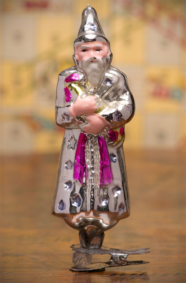 Antique Christmas ornament of WIZARD