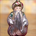 Antique silver glass Christmas ornament WIZARD