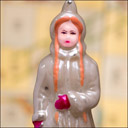 Antique Christmas ornament PRINCESS IN WINTER DRESS