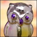 Antique silver Christmas ornament OWL