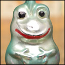 Antique Christmas glass ornament FROG