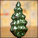 Antique silver glass ornament CHRISTMAS TREE