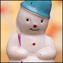 Antique Christmas glass ornament of SNOWMAN