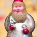 Antique Christmas glass ornament SANTA
