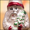Antique German silver glass Christmas ornament of Santa