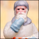 Antique Christmas glass ornament of SANTA