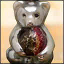 Antique Christmas ornament  CIRCUS BEAR