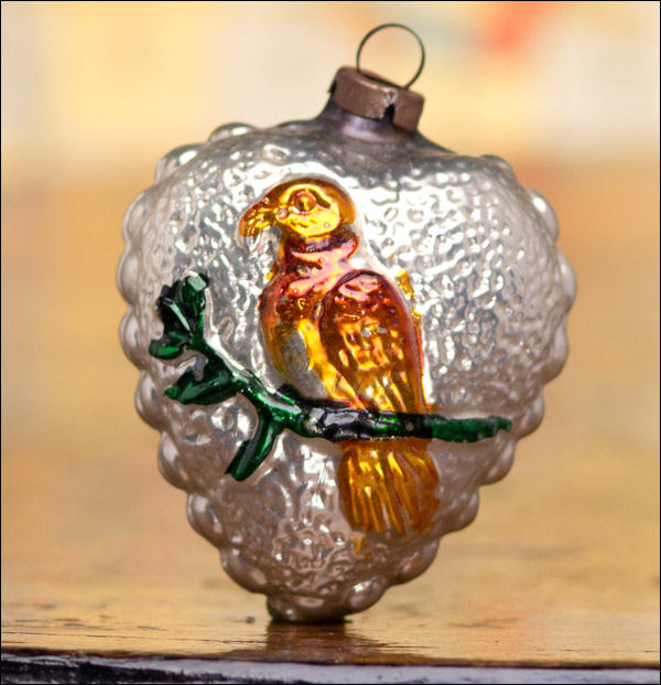 Antique German Christmas ornament BIRD