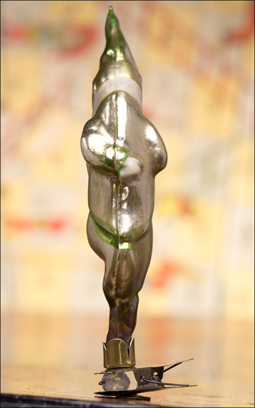 Antique Christmas ornament PEA POD AVOCATE from Cippolino tale