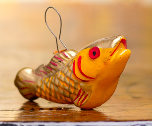 Antique Christmas ornament FISH