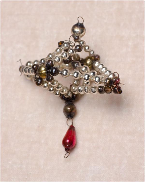 Antique beaded glass Christmas ornament