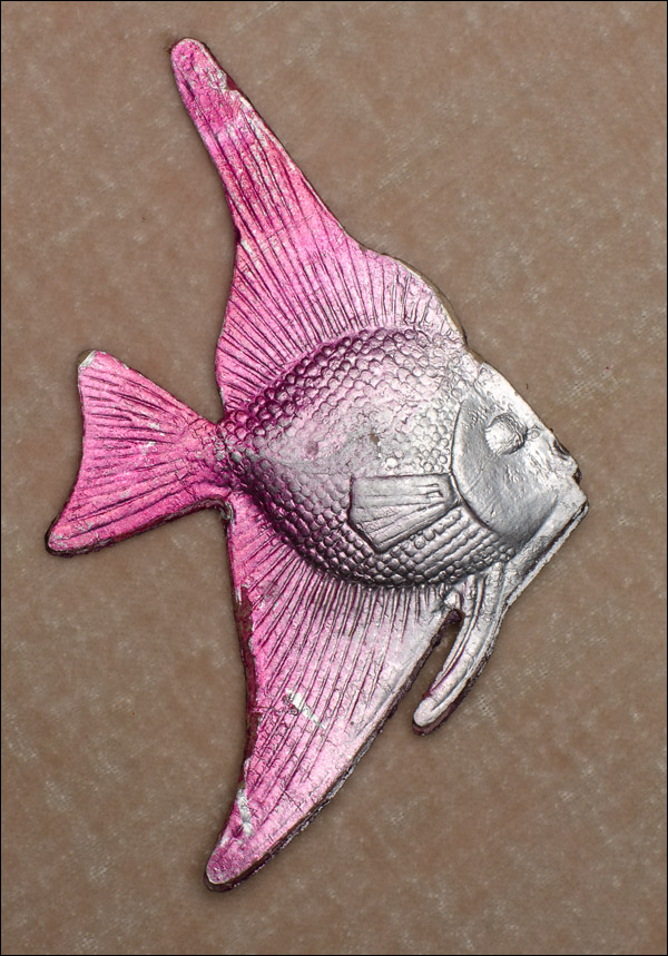 Vintage Dresden Christmas ornament FISH