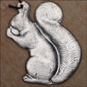 Vintage Dresden Christmas ornament SQUIRREL WITH NUT